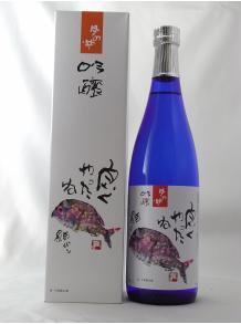 ★片岡鶴太郎の画で有名な吟醸酒★【月の井酒造店】月の井 鯛 720ml 15.5度