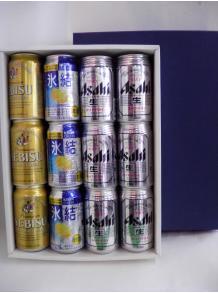★缶ビール&缶チューハイの豪華なギフト★【父の日ギフト】アサヒ・エビスの缶ビール&氷結レモンのギフト