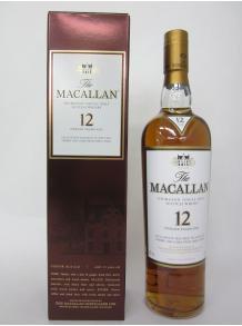 ★最も人気のシングルモルトウイスキーの一つ★マッカラン 12年 シェリーオーク 700ml 40度 正規 箱付