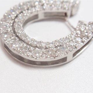 オーダー♡プラチナ二重ダイヤモンド馬蹄ネックレストップ