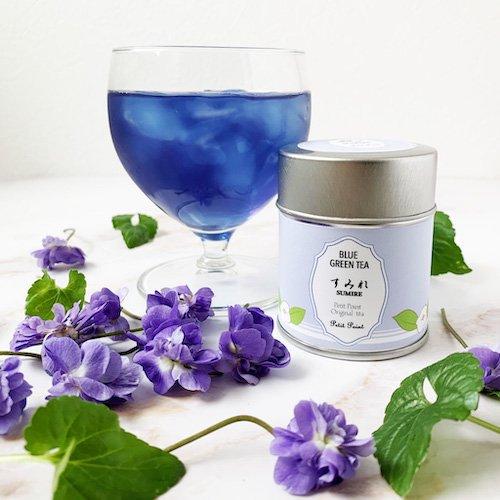 【すみれが香る青い緑茶】 すみれ [水出し緑茶]
