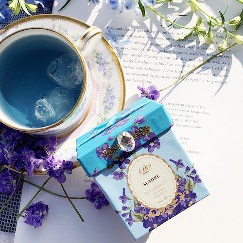 【すみれが香る青い緑茶】すみれ オリジナルBOX入