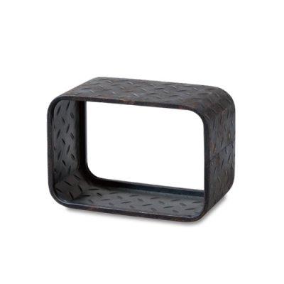 ブリキウォールシェルフ 飾り棚 Sサイズ チェッカープレート 縞鋼板
