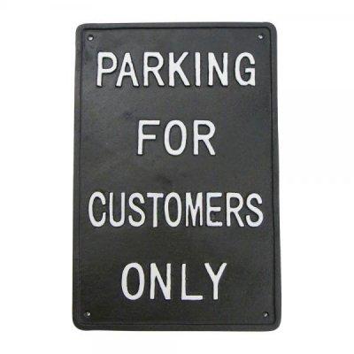 DULTONダルトン アイアンサイン パーキング PARKING FOR CUSTOMERS ONLY お客様駐車場看板 プレート