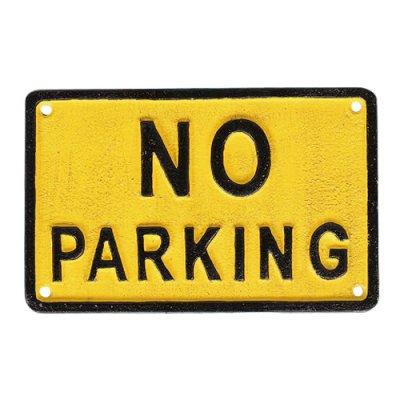 DULTON ダルトン アイアンサインプレート NO PARKING 駐車禁止 看板 メール便可
