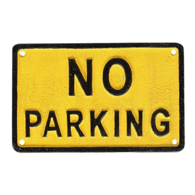 DULTON(ダルトン) アイアンサイン NO PARKING(駐車禁止) プレート/看板
