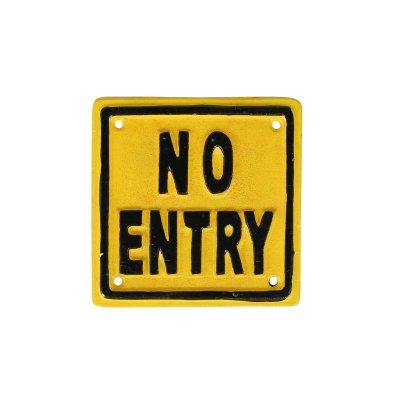 DULTONダルトン アイアンサイン NO ENTRY 進入禁止看板 メール便可