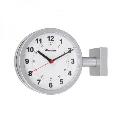 DULTONダルトン BONOXダブルフェイスクロック 170D 掛け両面時計 シルバー