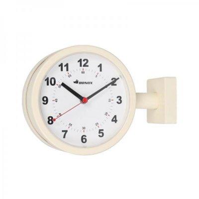 DULTON(ダルトン) BONOXダブルフェイスクロック(掛け両面時計) アイボリー