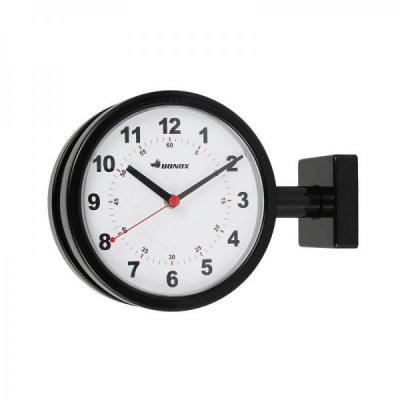 DULTON(ダルトン) BONOXダブルフェイスクロック(掛け両面時計) ブラック