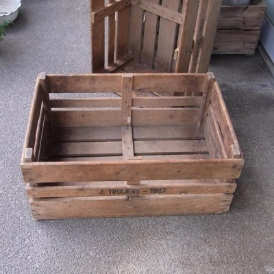 ピッキングボックス アンティーク木箱