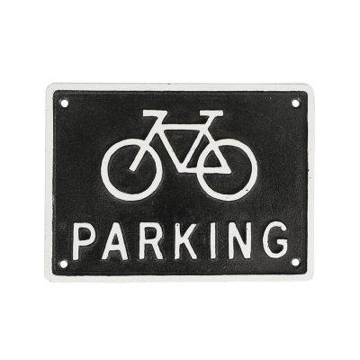 DULTON(ダルトン) アイアンサイン PARKING(パーキング) 自転車/バイシクル 駐輪場看板 ブラック