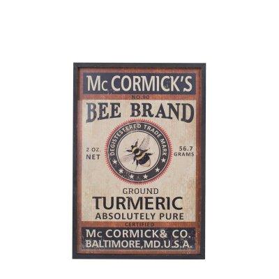 DULTONダルトン アートフレーム M Bee Brand ミツバチ
