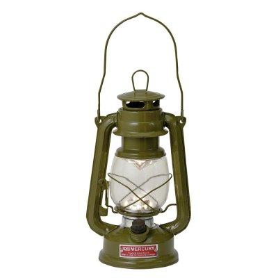 Mercury マーキュリー LED ハリケーンランタン ランプ カーキー