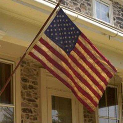 星条旗 アメリカ 国旗 ヘリテージ 3'X5' アメリカ製 コットン 刺繍星 手染め