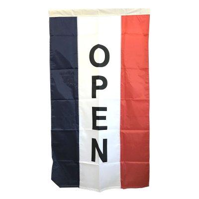 OPEN 旗 オープンフラッグ 3'X5' 縦長 メール便可