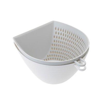 ザルとボウルセット ホワイト 白 レンジ 食洗機可
