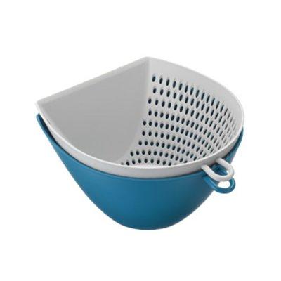 ザルとボウルセット ブルー 青 レンジ 食洗機可