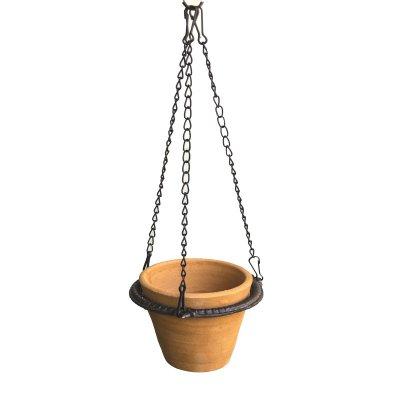 アイアンハンギングリング ポットホルダー  吊り鉢 鎖 チェーン ビンテージ調 メール便・ネコポス便可