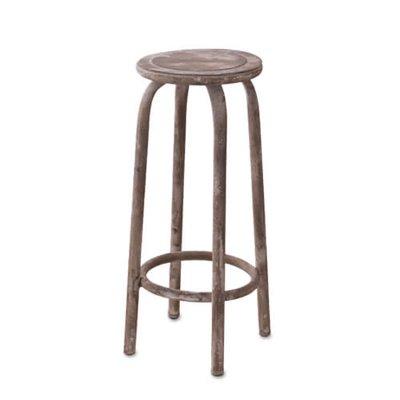 ビンテージ調 アイアンフラワースタンド L  スルール 丸椅子