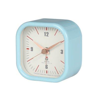 ダルトン アラームクロック 目覚ま時計 スクエア サックス ライトブルー 水色