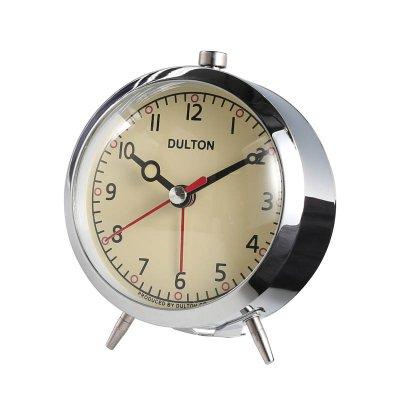 ダルトン アラームクロック 目覚ま時計 クローム