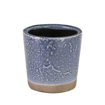ダルトン Botany カラー グレーズド ポット 植木鉢 バイオレット 4号