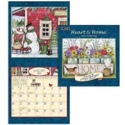 2022年LANG(ラング)ミニカレンダー Heart & Home ハート&ホーム