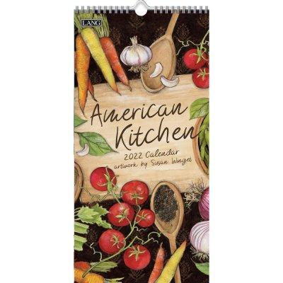2022年LANGラングスリムカレンダー (縦長) American Kitchen アメリカンキッチン
