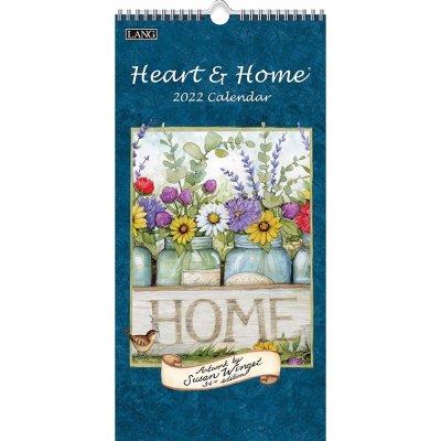 2022年LANGラングスリムカレンダー (縦長) Heart & Home ハート&ホーム