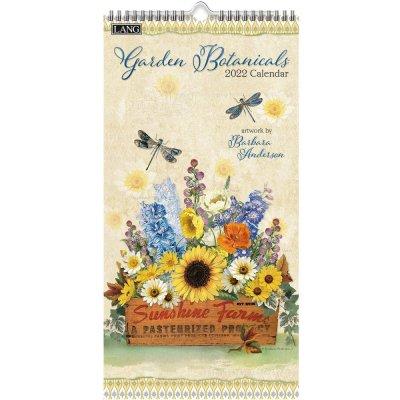 2022年LANGラングスリムカレンダー (縦長) Garden Botanicals ガーデンボタニカルズ