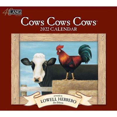 2022年LANGラングカレンダー Cows Cows Cows カウズ カウズ カウズ