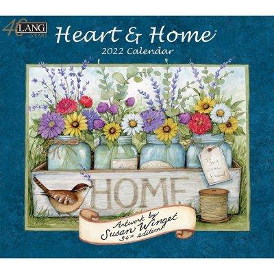 2022年LANGラングカレンダー Heart & Home ハート&ホーム