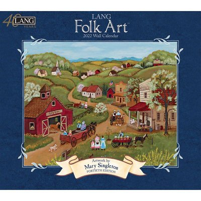 2022年LANGラングカレンダー LANG Folk Art ラングフォークアート