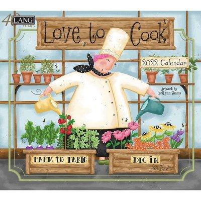 2022年LANGラングカレンダー  Love to Cook ラブトゥクック