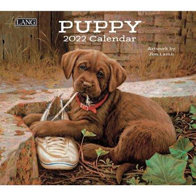2022年LANGラングカレンダー Puppy パピー 子犬