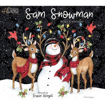 2022年LANGラングカレンダー Sam Snowman サム スノーマン 雪だるま