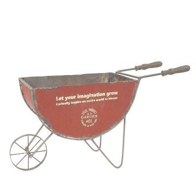 ガーデンカート フラワーカート 一輪車 ホイールバロウ ドラム缶