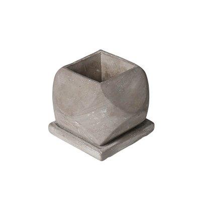 ダルトン セメントポット 植木鉢 受皿付・鉢底あり ポリヘドロン