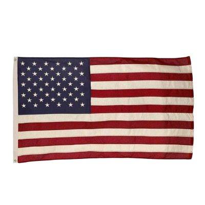 Valley Forge Flag アメリカ 国旗 星条旗 3'X5' W155XH91cm コットン 刺繍星