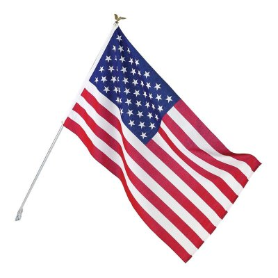 星条旗 アメリカ国旗 3'X5' (156×84cm) ディスプレイセット ポール ブラケット イーグル付 Valley Forge Flag製