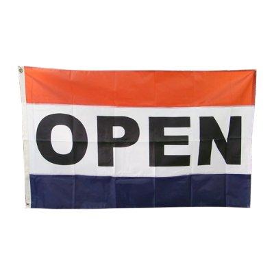 OPENオープン旗 3'X5' (156cmX84cm) ナイロン アメリカ直輸入 メール便可