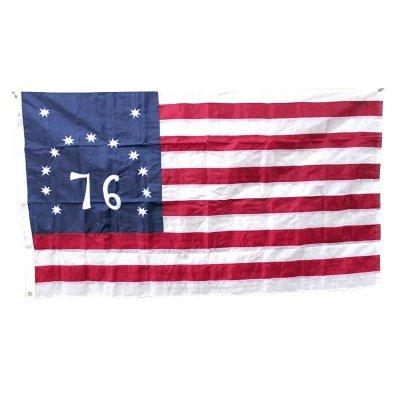76 星条旗 ベニントン・フラッグ  3'X5' (153cmX88cm)  ナイロン アメリカ製 送料無料