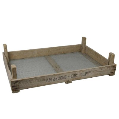 チューリップボックス(底網) アンティーク木箱