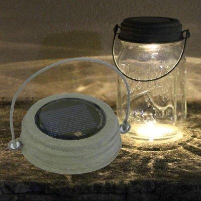 メイソンジャー 替え蓋 フタ LEDソーラーライト ハンギング 防滴
