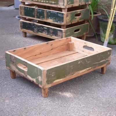 ビンテージ木箱 アンモボックス ミリタリーウッドトレイ