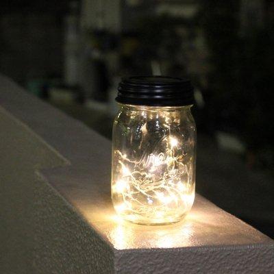 メイソンジャー LEDソーラーライト フェアリーライト 替え蓋 防滴
