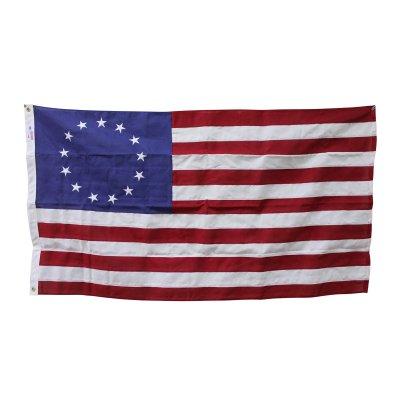 星条旗 ベッツィ・ロス・フラッグ 13スター 3'X5' (155cmX91cm) コットン アメリカ製 送料無料