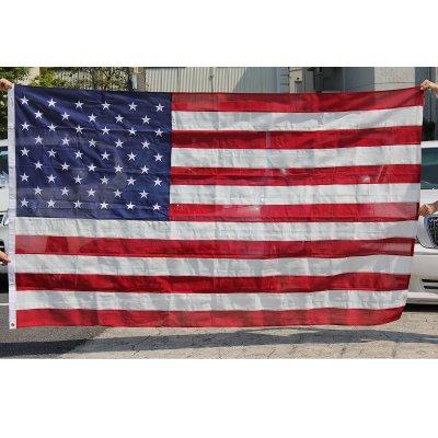 星条旗 5'X8' (240cmX150cm) コットン 刺繍 アメリカ製 送料無料