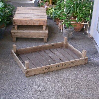 チューリップバルブボックス(底板) アンティーク木箱